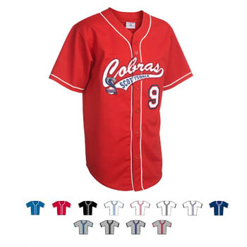 Teamwork Athletic Walk Off Full Button Piped Jersey 1825b