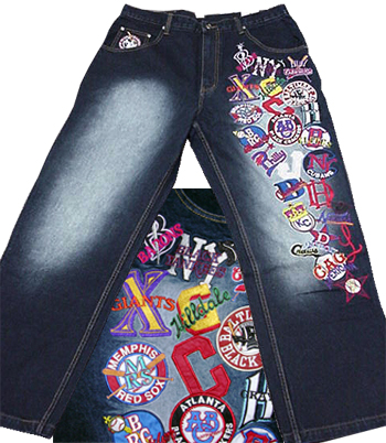 Headgear Negro League Collage Denim pant