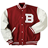 Holloway Award Wool Vinyl USA Jacket Scarlet/White