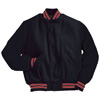 Holloway Varsity Wool/leather USA Jacket Bk/Scarlet/White/Bk