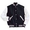 Holloway Varsity Wool/leather USA Jacket Black/White