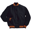 Holloway Varsity Wool/leather USA Jacket BK/Orange/BK