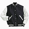 Rennoc Varsity Wool/leather USA Jacket Navy/White