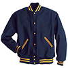 Holloway Letterman Wool Jacket Navy/Light Gold