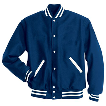 Holloway Letterman Wool Jacket Royal/white