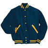 Holloway Varsity Wool/leather USA Jacket Royal/light Gold