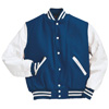 Holloway Varsity Wool/leather USA Jacket Royal/white