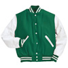 Holloway Varsity Wool/leather USA Jacket Kelly/white