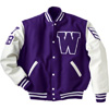 Holloway Varsity Wool/leather USA Jacket Purple/white