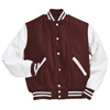 Holloway Varsity Wool/leather USA Jacket Maroon/white