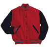 Holloway Varsity Wool/leather USA Jacket Scarlet/black/white