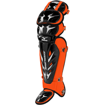 Mizuno Samurai Shin Guards G3 - 15½ inch Blk/Orange