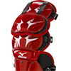 Mizuno Samurai Shin Guards G3 - 15½ inch Red/Blk