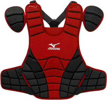 Mizuno Samurai Chest Protector G3 - 15 inch Red/Blk