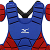 Mizuno Samurai Chest Protector G3 - 15 inch Royal/Red