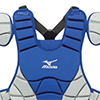 Mizuno Samurai Chest Protector G3 - 15 inch Roy/Grey