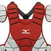 Mizuno Samurai Chest Protector G3 - 15 inch Red/Grey