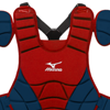 Mizuno Samurai Chest Protector G3 - 15 inch Red/Navy