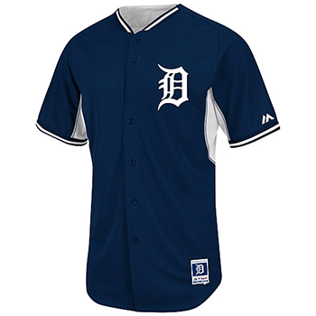 Majestic Detroit Tigers Authentic 2014 Cool Base BP Jersey