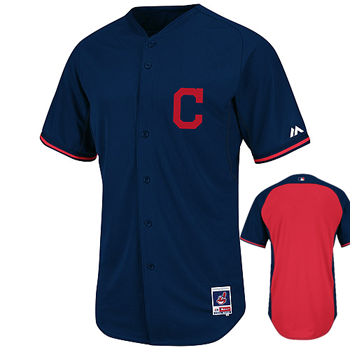 Majestic Cleveland Indians Authentic BP Jersey