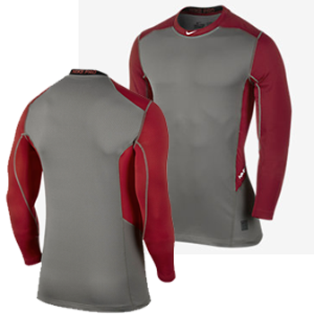 Nike Pro Hyperwarm Light Fitted Crew Red