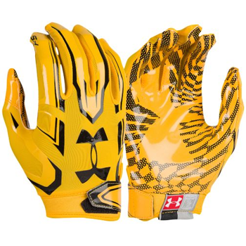 Under Armour F5 Mens Football Glove Gold  1271183-750
