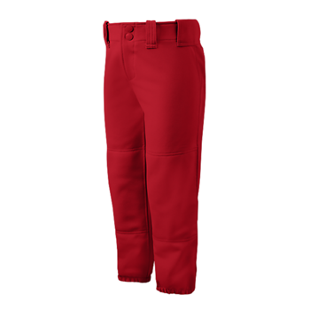 Mizuno Womens Select Belted Low Rise Pant red