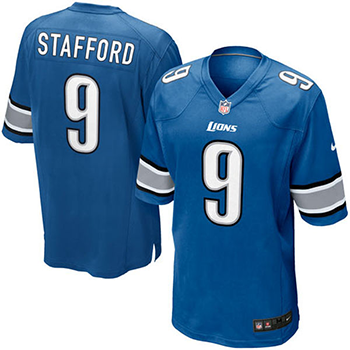 Nike Maillot Detroit Lions (Matthew Stafford) Nike Light Blue Game Jersey