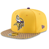 New Era Minnesota Vikings 2017 Sideline OF 9FIFTY Gold Snapback