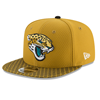 New Era Jacksonville Jaguars 2017 Sideline OF 9FIFTY Gold Snapback