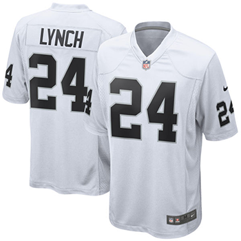 Nike Oakland Raiders Game Jersey (Lynch) white