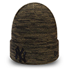 New Era New York Yankees Green and Black Marl Cuff Knit