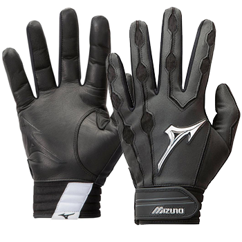Mizuno Covert leather Batting Gloves Black