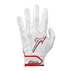 Mizuno Covert leather Batting Gloves White / Red trim