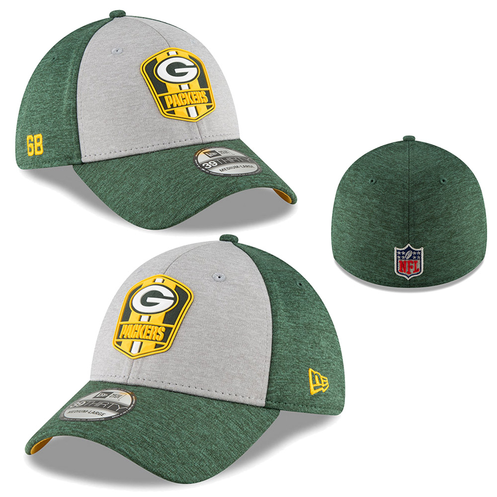 New Era NFL Green Bay Packers Sideline Road 2018 39Thirty