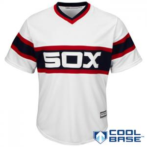 Majestic MLB Chicago White Sox 2015 Cool Base Alternate Home Jersey (retro)