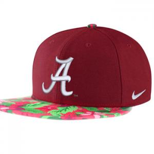 Nike NCAA Alabama Crimson True Snapback Floral Hat