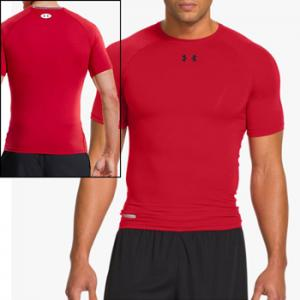 Under Armour HeatGear® Sonic Compression Short Sleeve red 1236224