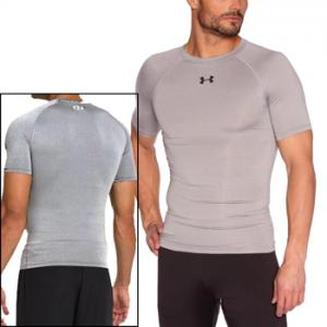 Under Armour HeatGear® Sonic Compression Short Sleeve Silver 1236224