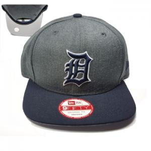 New Era MLB Detroit Tigers Heather Graphite Field Snapback 9Fifty