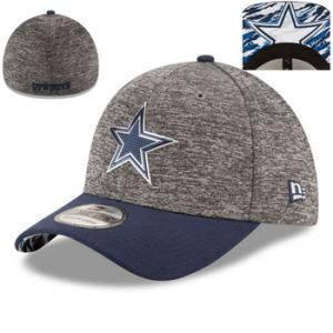 New Era NFL Dallas Cowboys Heathered Gray/Navy 2016 NFL Draft 39THIRTY Flex Cap