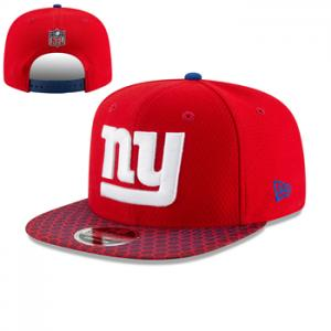New Era NFL New York Giants 2017 Sideline OF 9FIFTY Red Snapback