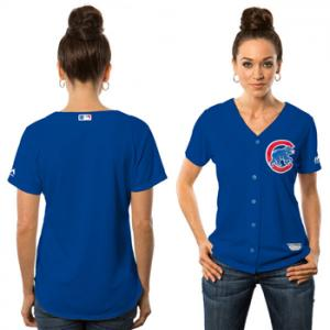 Majestic MLB Chicago Cubs Womens Cool Base® Jersey