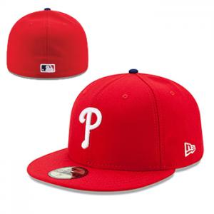 New Era MLB Philadelphia Phillies Authentic On-Field Game 59FIFTY Red