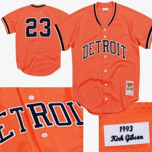 Mitchell & Ness MLB Detroit Tigers Kirk Gibson 1993 Authentic Mesh BP Jersey