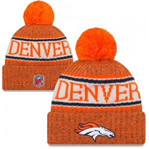 New Era NFL Denver Broncos Sideline Bobble Cuff knit 2018