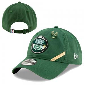New Era NBA Milwaukee Bucks 2019 Draft 9Twenty Green