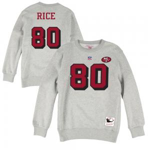 Mitchell & Ness NFL San Francisco 49ers Jerry Rice 80 Name & Number Fleece Crew