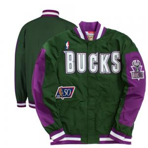 Mitchell & Ness NBA Milwaukee Bucks Authentic Warm Up Jacket 1996-1997