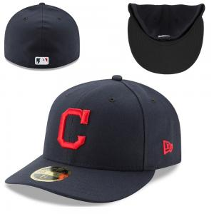 New Era MLB Cleveland Indians Authentic Collection Low Profile Road 59Fifty Cap